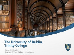 The University of Dublin, Trinity College powerpoint template download | 都柏林大学圣三一学院PPT模板下载