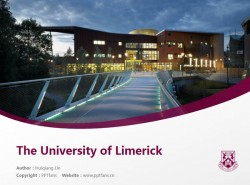 The University of Limerick powerpoint template download | 利默里克大学PPT模板下载