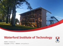 Waterford Institute of Technology powerpoint template download | 沃特福德理工学院PPT模板下载