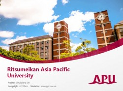 Ritsumeikan Asia Pacific University powerpoint template download | 立命馆亚洲太平洋大学PPT模板下载