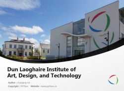 Dun Laoghaire Institute of Art, Design, and Technology powerpoint template download | 邓莱里文艺理工学院PPT模板下载