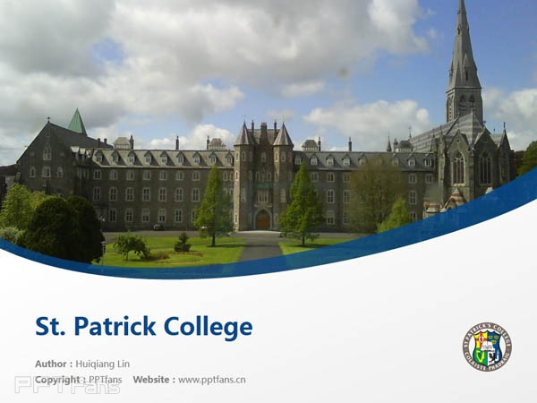 St. Patrick College powerpoint template download | 圣帕特里克学院PPT模板下载_slide1