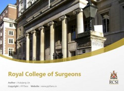 Royal College of Surgeons powerpoint template download | 皇家外科医学院PPT模板下载