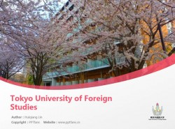 Tokyo University of Foreign Studies powerpoint template download | 东京外国语大学PPT模板下载
