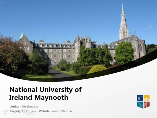 National University of Ireland Maynooth powerpoint template download | 爱尔兰国立梅努斯大学PPT模板下载_slide1