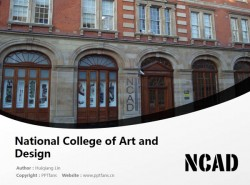 National College of Art and Design powerpoint template download | 国立艺术设计学院PPT模板下载