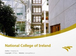 National College of Ireland powerpoint template download   爱尔兰国家学院PPT模板下载