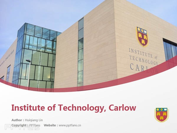 Institute of Technology, Carlow powerpoint template download | 卡罗理工学院PPT模板下载_slide1