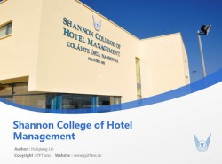 Shannon College of Hotel Management powerpoint template download | 香农酒店管理学院PPT模板下载