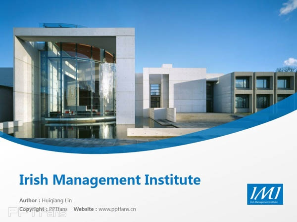 Irish Management Institute powerpoint template download | 爱尔兰管理学院PPT模板下载_slide1