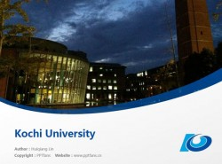 Kochi University powerpoint template download | 高知大学PPT模板下载