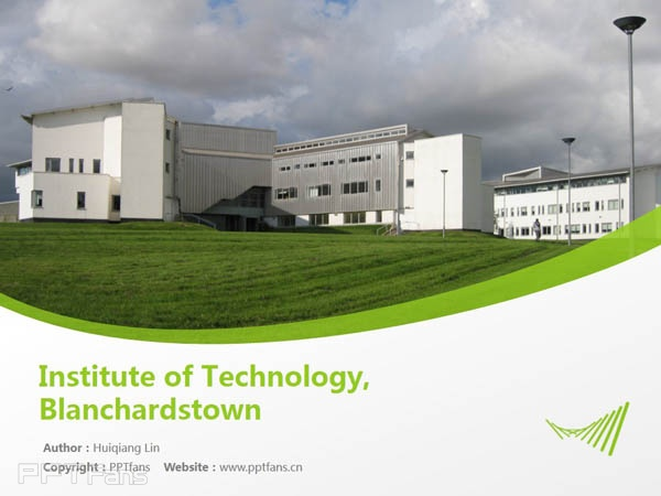 Institute of Technology, Blanchardstown powerpoint template download | 布兰察斯镇理工学院PPT模板下载_slide1