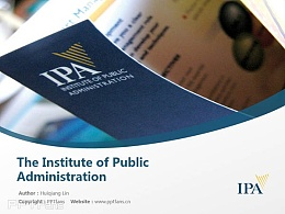 The Institute of Public Administration powerpoint template download | 公共管理學院PPT模板下載