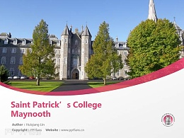 Saint Patrick's College Maynooth powerpoint template download | 梅努斯圣帕特里克學院PPT模板下載