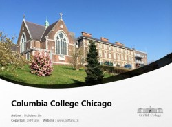 Griffith College Cork powerpoint template download   科克格里菲斯学院PPT模板下载