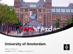 University of Amsterdam powerpoint template download | 阿姆斯特丹大学PPT模板下载
