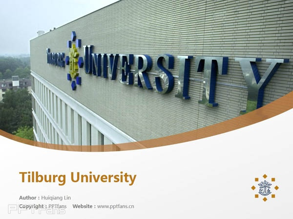 Tilburg University powerpoint template download | 蒂尔堡大学PPT模板下载_slide0