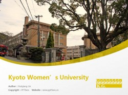 Kyoto Women's University powerpoint template download | 京都女子大学PPT模板下载