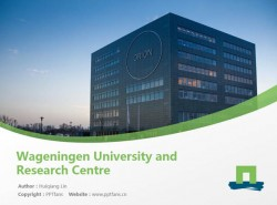 Wageningen University and Research Centre powerpoint template download | 瓦赫宁根大学PPT模板下载