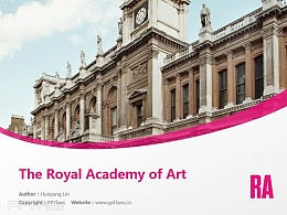 The Royal Academy of Art powerpoint template download | 皇家美术学院PPT模板下载