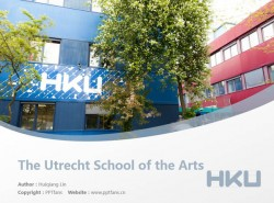The Utrecht School of the Arts powerpoint template download | 乌得勒支艺术学院PPT模板下载