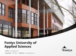 Fontys University of Applied Sciences powerpoint template download | 方堤斯应用科学大学PPT模板下载