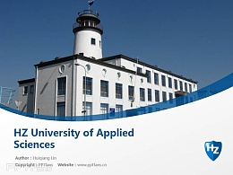 HZ University of Applied Sciences powerpoint template download | 泽兰应用科学大学PPT模板下载