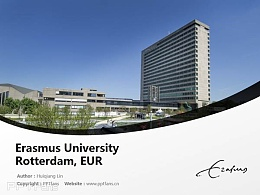 Erasmus University Rotterdam, EUR powerpoint template download | 鹿特丹伊拉斯謨大學PPT模板下載