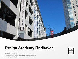 Design Academy Eindhoven powerpoint template download | 埃因霍芬设计学院PPT模板下载