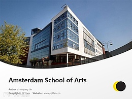 Amsterdam School of Arts powerpoint template download | 阿姆斯特丹藝術學院PPT模板下載