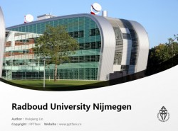 Radboud University Nijmegen powerpoint template download | 内梅亨大学PPT模板下载