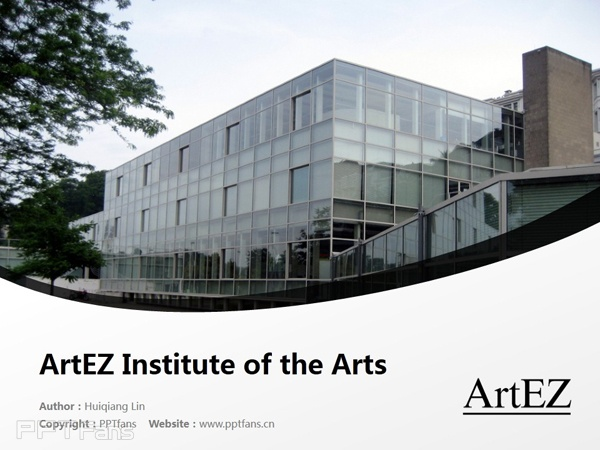 ArtEZ Institute of the Arts powerpoint template download | ArtEZ艺术学院PPT模板下载_幻灯片预览图1