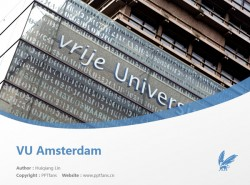 VU Amsterdam powerpoint template download | 阿姆斯特丹自由大学PPT模板下载