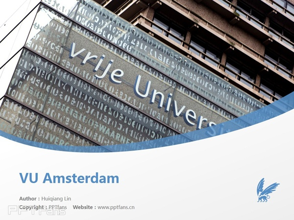 VU Amsterdam powerpoint template download | 阿姆斯特丹自由大学PPT模板下载_slide0