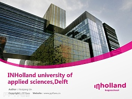 INHolland university of applied sciences,Delft powerpoint template download | 荷兰应用科学大学代尔夫特学院PPT模板下载