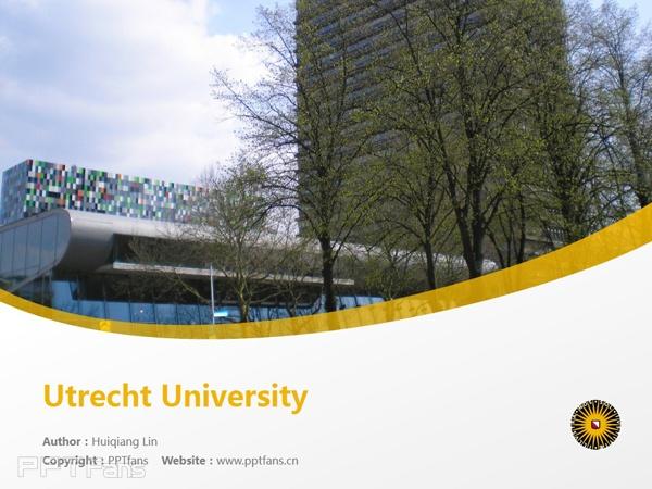 Utrecht University powerpoint template download | 乌得勒支大学PPT模板下载_幻灯片预览图1