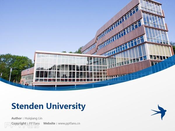 Stenden University powerpoint template download | 斯坦德应用科学大学PPT模板下载_幻灯片预览图1