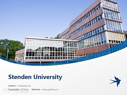 Stenden University powerpoint template download   斯坦德应用科学大学PPT模板下载
