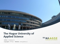 The Hague University of Applied Science powerpoint template download | 海牙应用科学大学PPT模板下载