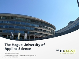 The Hague University of Applied Science powerpoint template download | 海牙應用科學大學PPT模板下載