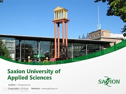 Saxion University of Applied Sciences powerpoint template download   萨克欣应用科学大学PPT模板下载