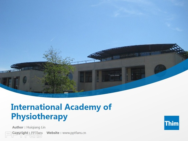 International Academy of Physiotherapy powerpoint template download | 国际理疗学院PPT模板下载_幻灯片预览图1