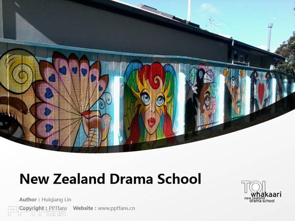 Te Kura Toi Whakaari O Aotearoa: New Zealand Drama School powerpoint template download | 新西兰戏剧学院PPT模板下载_幻灯片预览图1