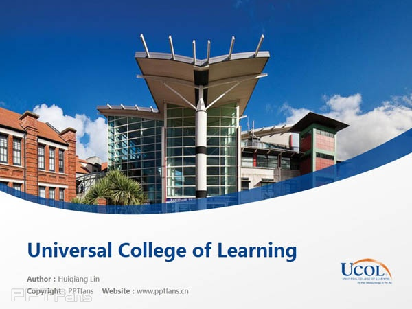 Universal College of Learning powerpoint template download | 环球理工学院PPT模板下载_幻灯片预览图1