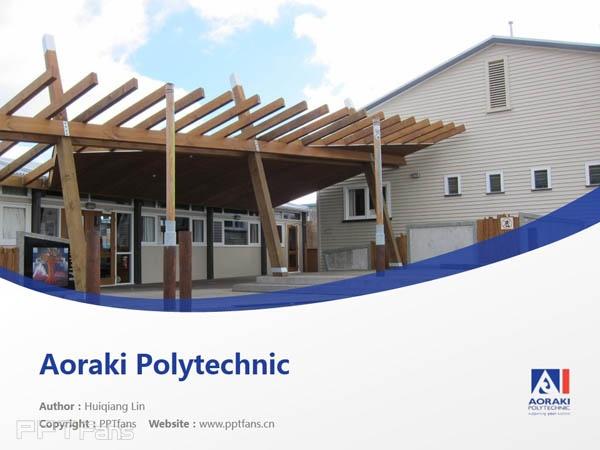 Aoraki Polytechnic powerpoint template download | 奥拉克技术学院PPT模板下载_幻灯片预览图1