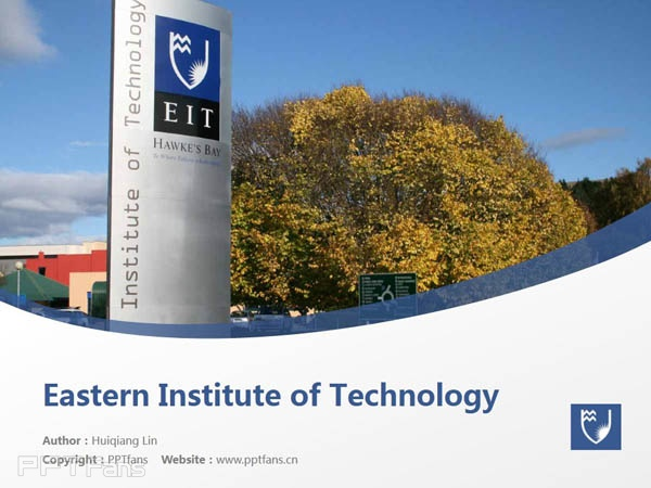 Eastern Institute of Technology powerpoint template download | 东部理工学院PPT模板下载_幻灯片预览图1