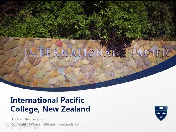 International Pacific College, New Zealand powerpoint template download | 新西兰国际太平洋大学PPT模板下载_幻灯片预览图1