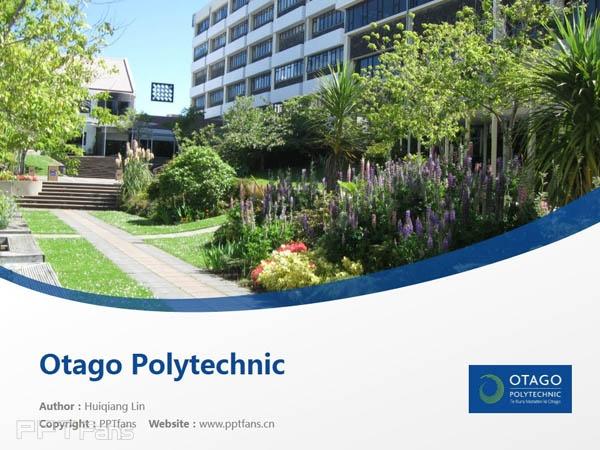 Otago Polytechnic powerpoint template download | 奥塔哥理工学院PPT模板下载_幻灯片预览图1