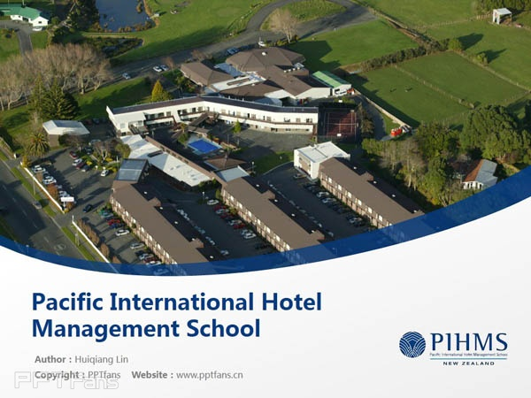 Pacific International Hotel Management School powerpoint template download | 太平洋国际酒店管理学院PPT模板下载_幻灯片预览图1