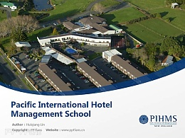 Pacific International Hotel Management School powerpoint template download | 太平洋國際酒店管理學院PPT模板下載